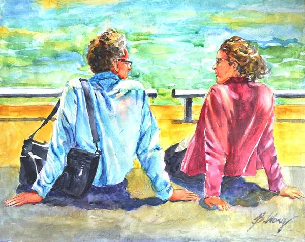 Painting - Lunch Break by Betty M M Wong