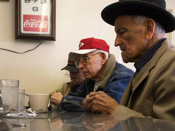 Photograph - Lunch Counter Boys by Tim Nyberg