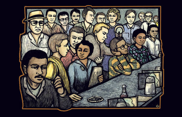Rights Mixed Media - Lunch Counter by Ricardo Levins Morales