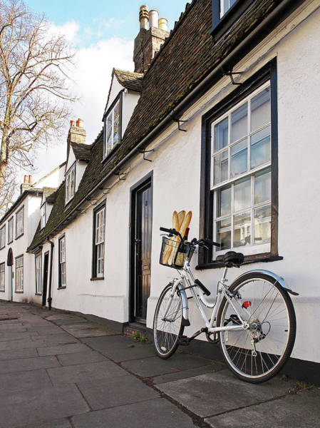 Photograph - Lunch French Style By Bicycle In Cambridge by Gill Billington