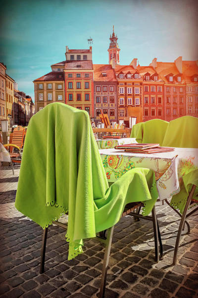 Wall Art - Photograph - Lunch In The Old Town Square Warsaw Poland  by Carol Japp