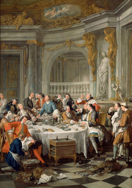 Painting - Lunch Of Oysters by Jean-Francois de Troy