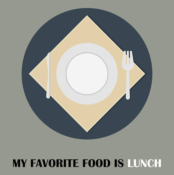 Bier Painting - Lunch Poster Print - My Favorite Food Is Lunch by Beautify My Walls