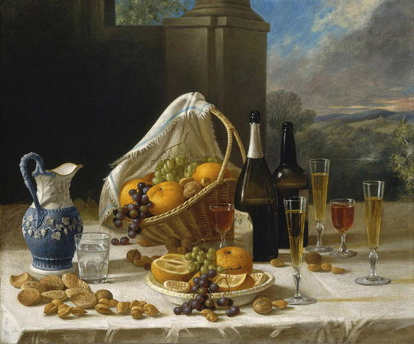 Food Groups Painting - Luncheon Still Life by Francis William Edmonds