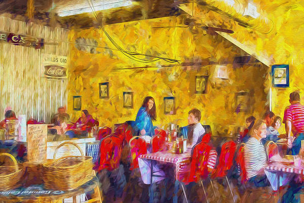 Painting - Lunchtime - Country Cafe by Barry Jones