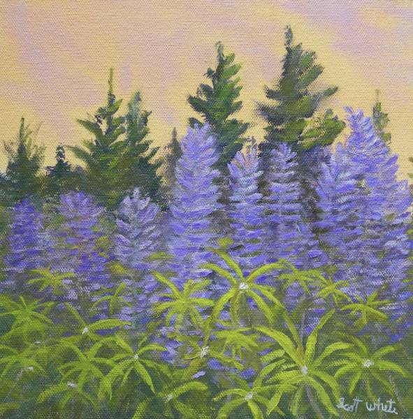 Painting - Lupine In The Morning by Scott W White