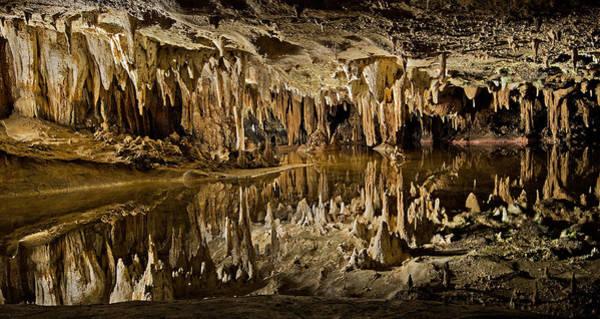 Caverns Photograph - Luray Caverns - Virginia - Reflections At Dream Lake by Brendan Reals