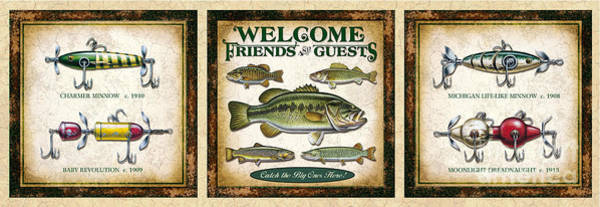 Painting - Lure Three Piece Panels by JQ Licensing