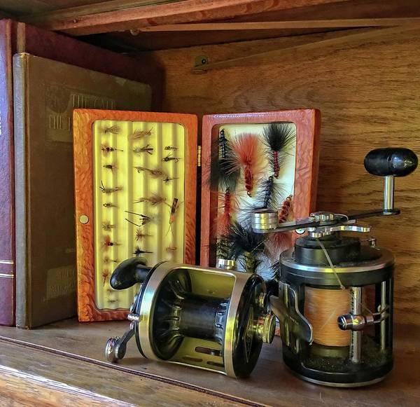 Photograph - Lures And Reels by Susan Leggett