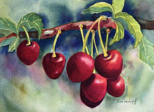 Painting - Luscious Cherries by Hilda Vandergriff