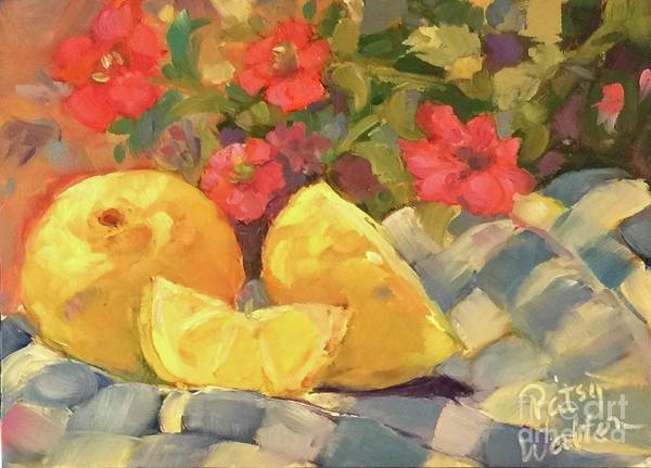 Painting - Luscious Lemons by Patsy Walton