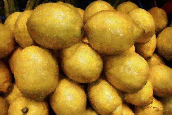 Painting - Luscious Lemons by RC DeWinter