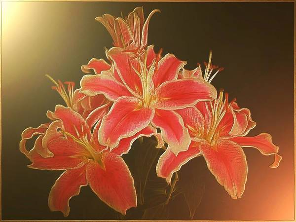 Digital Art - Luscious Lilies by Charmaine Zoe