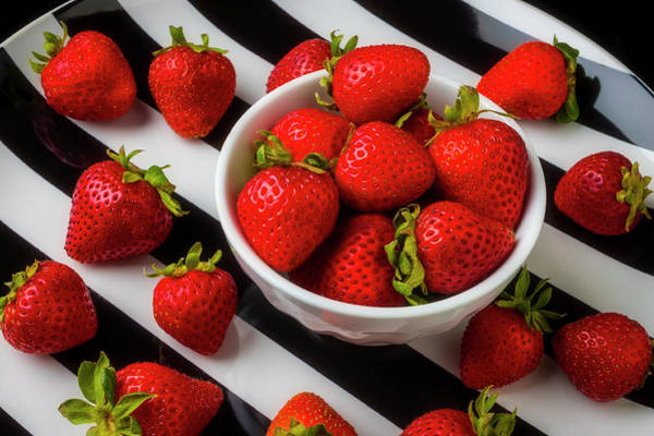 Wall Art - Photograph - Luscious Strawberries by Garry Gay