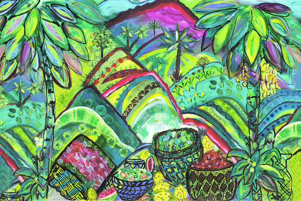 Island Life Wall Art - Painting - Lush Abundance by Bridget Weber