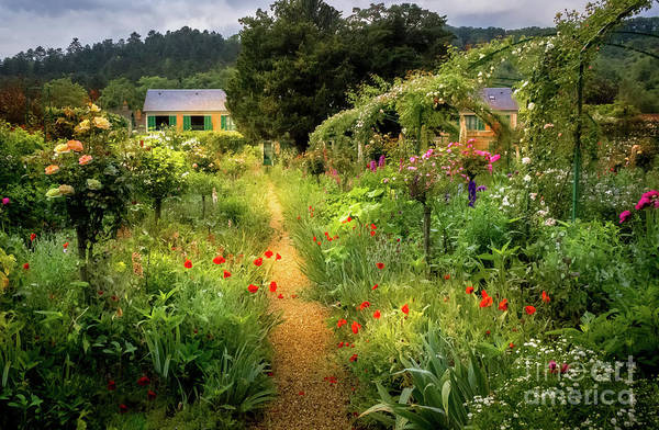 Claude Monet Photograph - Lush Garden At Claude Monet's Home In Giverny, France 2 by Liesl Walsh