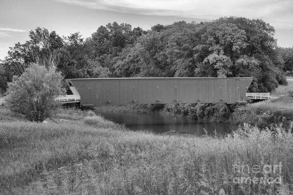 Photograph - Lush Green Hogback Landscape Black And White by Adam Jewell