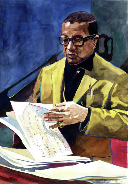 Painting - Lush Life Billy Strayhorn by David Lloyd Glover