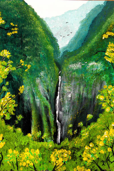 Painting - Lush Waterfall by Pierre Leclerc Photography