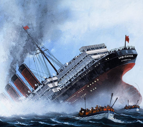 Wall Art - Painting - Lusitania by Mike Tregenza