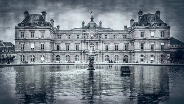 Photograph - Luxembourg Palace Bw by Joan Carroll