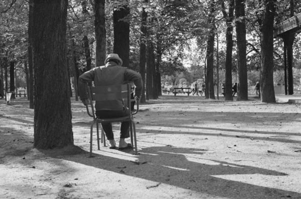 Park Bench Digital Art - Luxembourg Shadows by Pavel Marek