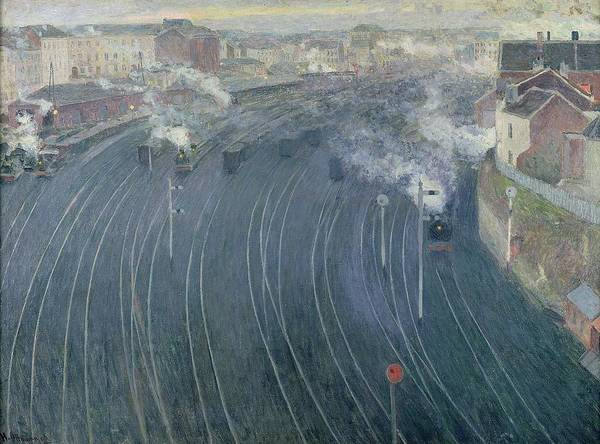Railway Painting - Luxembourg Station by Henri Ottmann