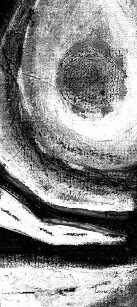 Blanco Y Negro Wall Art - Painting - Luz De Luna / Moonlight -vertical Long Strip Format  by Laura Gomez