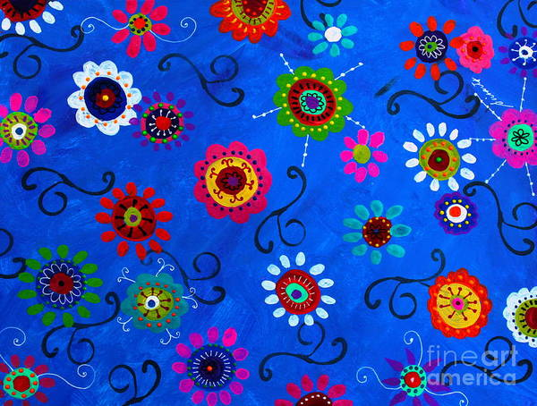 Painting - Lv Whimsical Flowers I by Pristine Cartera Turkus