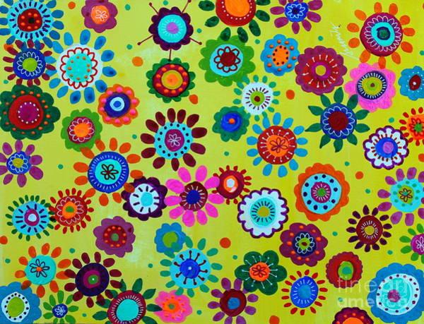 Painting - Lv Whimsical Flowers II by Pristine Cartera Turkus