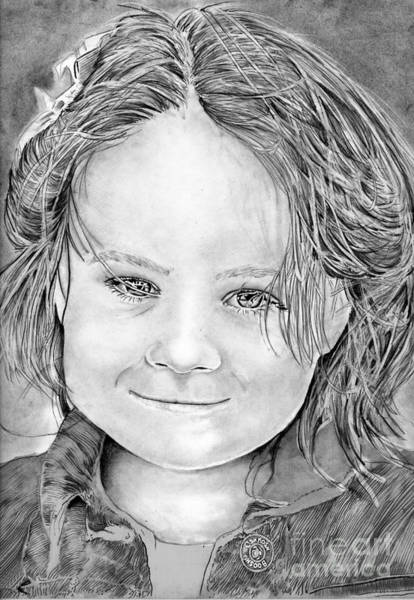 Drawing - Lydia by Bill Richards