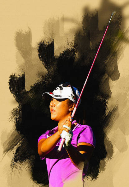 Lpga Digital Art - Lydia Ko Of New Zealand Watches Her Second Shot by Don Kuing