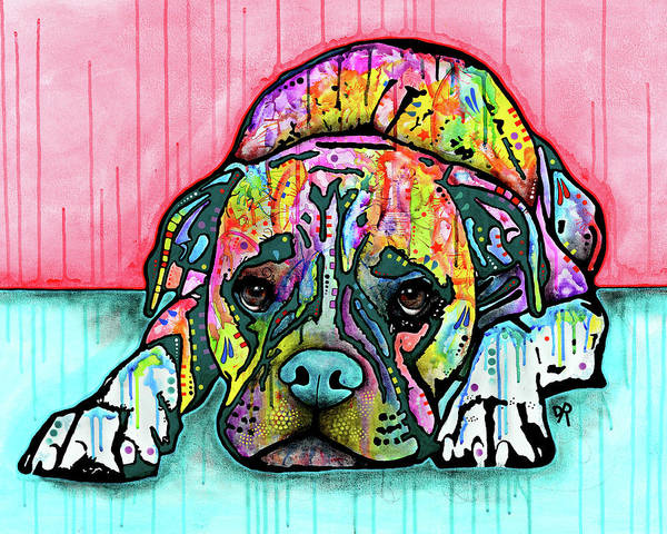 Painting - Lying Boxer by Dean Russo Art