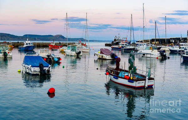 Photograph - Lyme Regis Harbour Evening by Colin Rayner