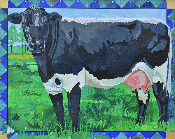 Ontario Mixed Media - Lynch Lineback Cow by Alyson Champ
