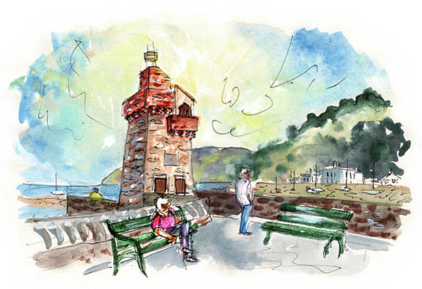 Painting - Lynmouth 01 by Miki De Goodaboom