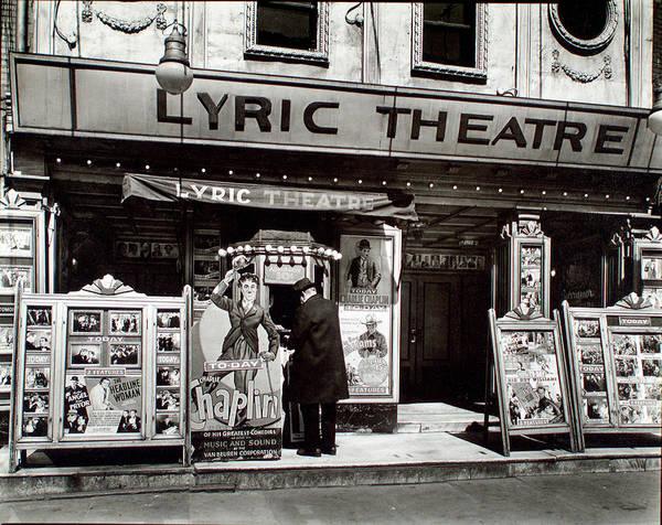 New York Wall Art - Mixed Media - Lyric Theatre 1936, Manhattan, New York by Zal Latzkovich