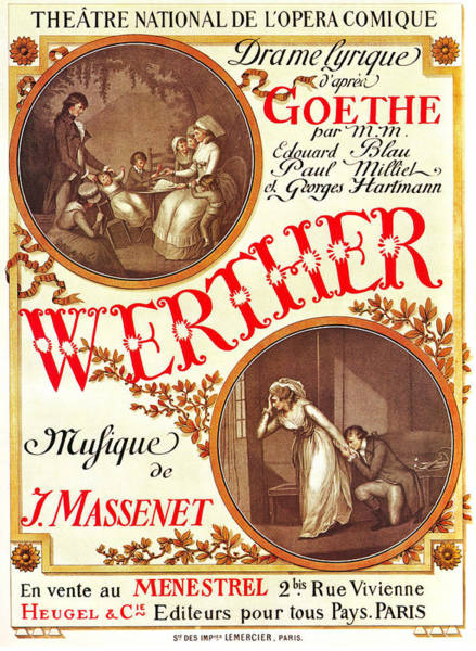 Lyrical Wall Art - Mixed Media - Lyrical Drama - Werther, By Goethe - Vintage Advertising Poster by Studio Grafiikka