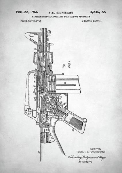 Wall Art - Digital Art - M-16 Rifle Patent by Zapista Zapista