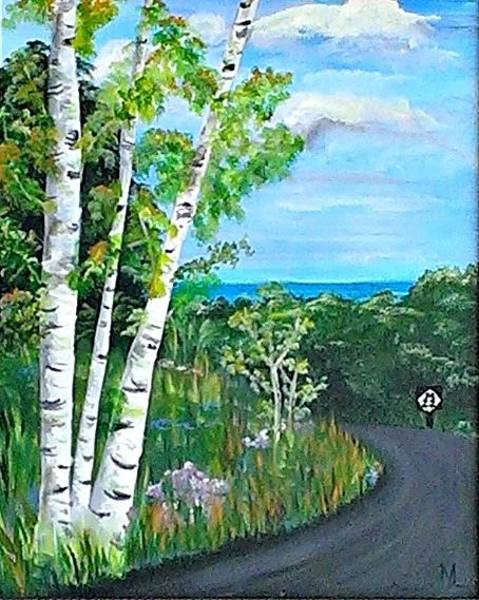 Up North Painting - M-22p by Martha Laviolette