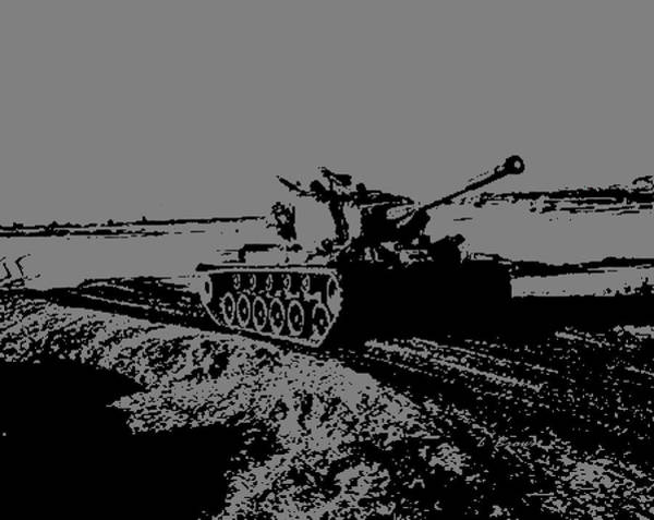 Wall Art - Photograph - M-26 Pershing Tank Black And White by L Brown
