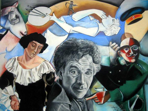 Wall Art - Drawing - M Chagall by Leyla Munteanu