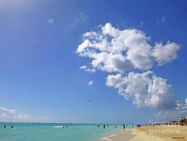 Digital Art - M Day At The Beach 2 by Francesca Mackenney