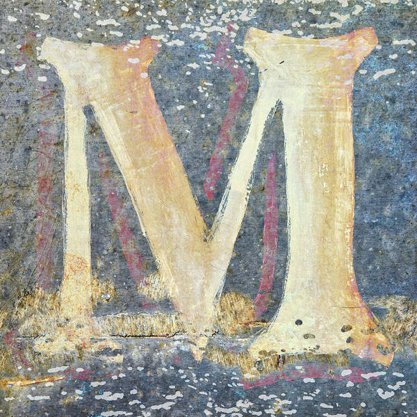 Letters Wall Art - Mixed Media - M Is For Monet by Carol Leigh