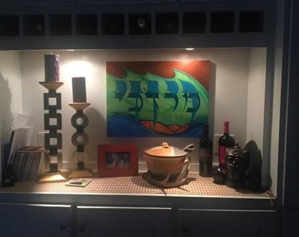 Painting - M-v Installation by Marlene Burns