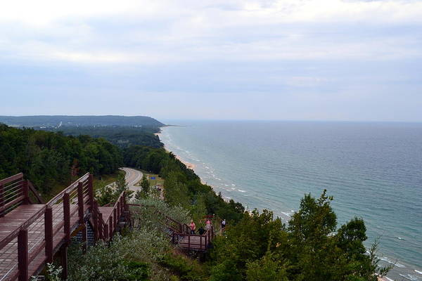 Photograph - M22 Scenic Lake Michigan Overlook  by Michelle Calkins