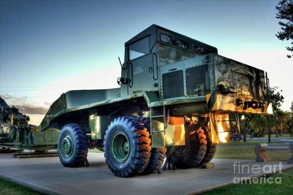 Photograph - M250 Rear Lifting Truck  by Tony Baca