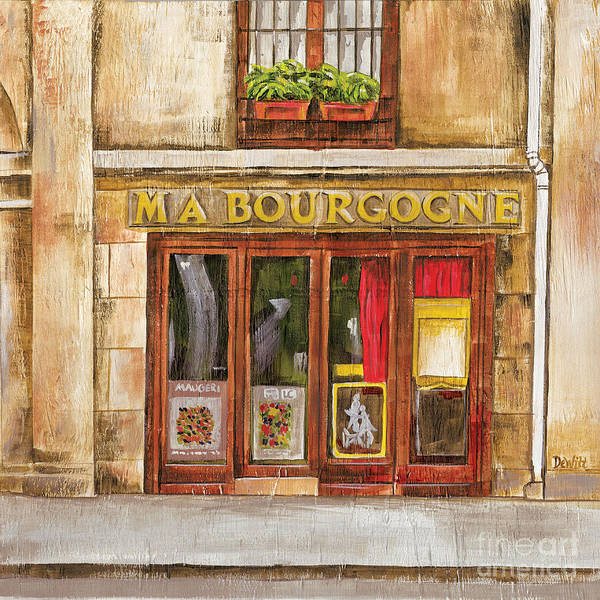 Brasserie Wall Art - Painting - Ma Bourgogne by Debbie DeWitt