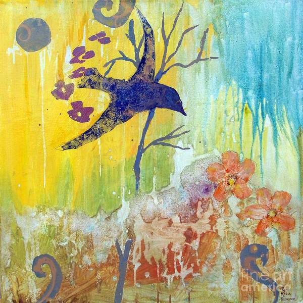 Painting - Ma Doh Bird Soars by Robin Maria Pedrero
