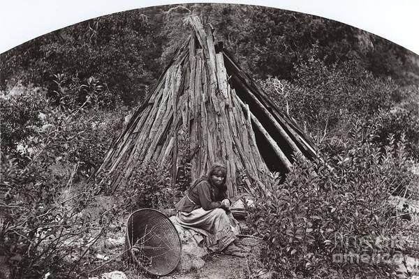 Photograph - Ma Ha La Yosemite Indian George Fiske Photo Circa 1885 by California Views Archives Mr Pat Hathaway Archives